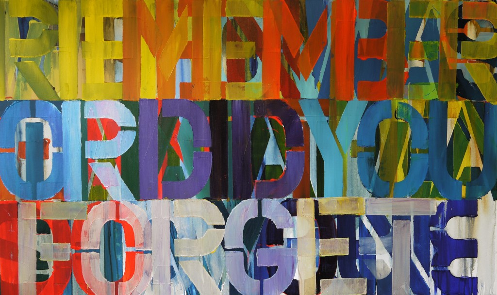 did you remember(or did you forget), 91x152x3.6cm, acrylic on canvas, 2014